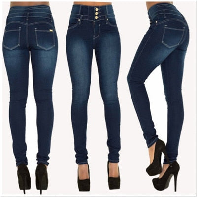 Woman Denim Top Brand Stretch Jeans High Waist Pants Women High