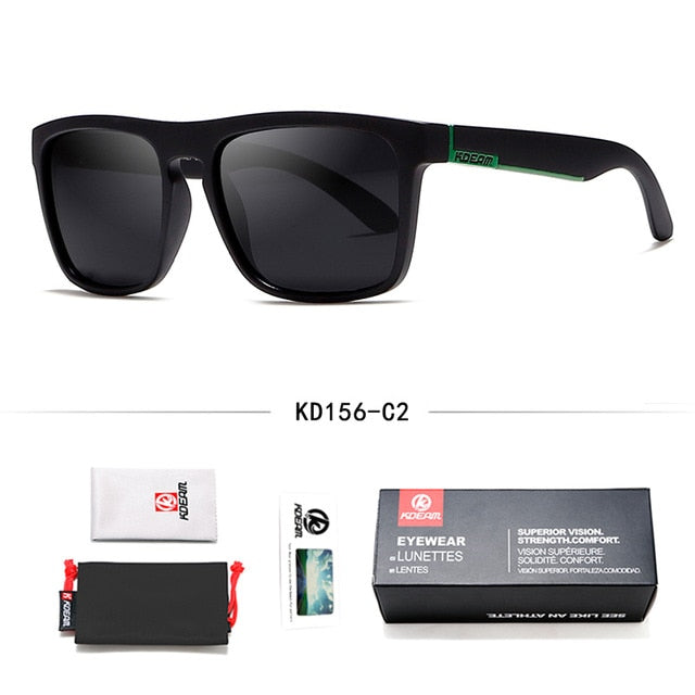 Fashion Guy's Sun Glasses From Kdeam Polarized Sunglasses Men Classic Design All-Fit Mirror.