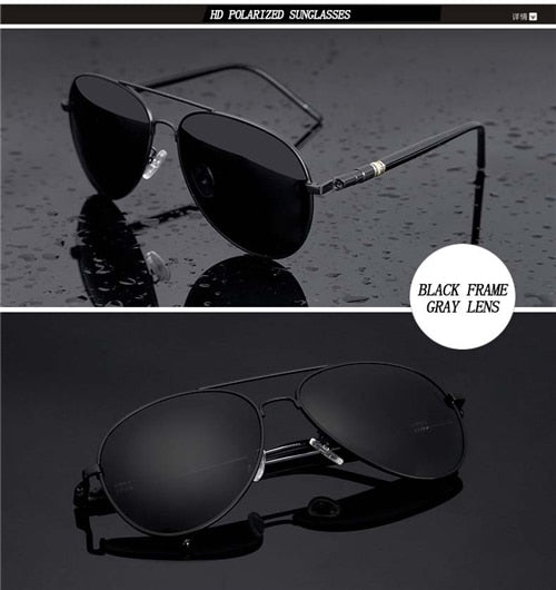 Aviation Metail Frame Quality Oversized Spring Leg Alloy Men Sunglasses Brand Design Pilot
