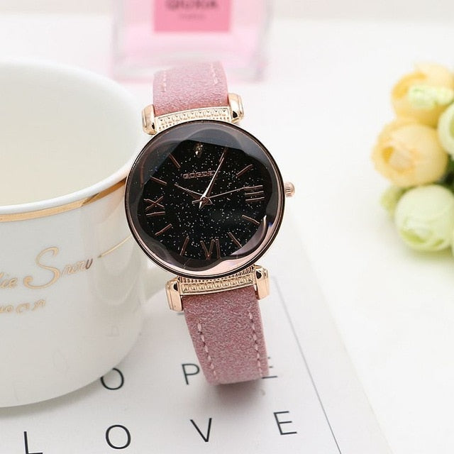 Leather Watches Women ladies casual dress quartz wristwatch reloj mujer