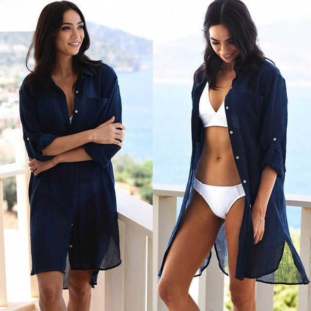 Robe de Plage Swimsuit Cover up Saida de Praia longa Women Bathing suit cover up Tunics for Beach