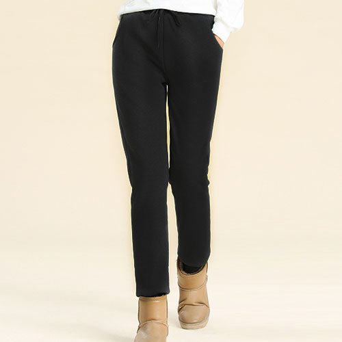 Winter Cashmere Harem Warm Pants Women's Velvet Thick Lambskin Cashmere Pants