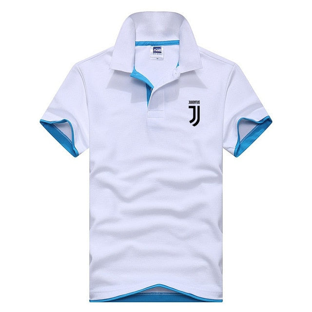 Business Polo Shirt Men Juventus Brand Clothing Male Print Polo Shirt Solid Casual Polo Tee