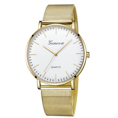 Fashion Casual watches Womens Quartz Stainless Steel Wrist Watch Bracelet Watches