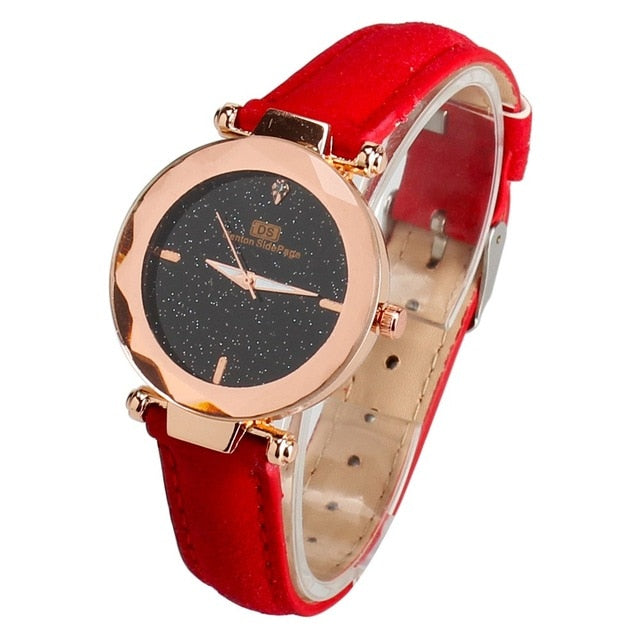 Ladies Watch Starry Sky Female Leather Quartz Wrist Watch Elegant Women Watches Bracelet Watch
