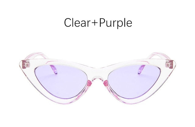 Cat eye shade for women fashion sunglasses brand woman vintage retro triangular cateye glasses