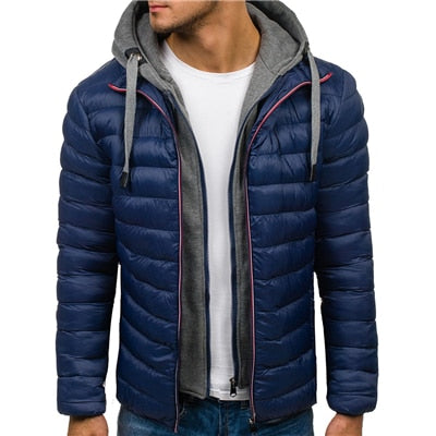 Mens Parka Jacket Winter Hooded Coat Men Cotton Puffer Jackets Warm clothes Windbreaker