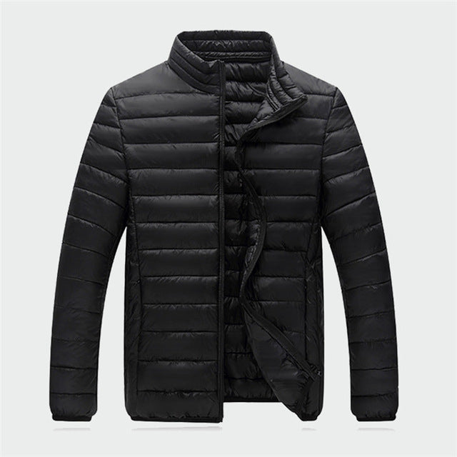 Men's Parka Light Weight Autumn Warm Coats Winter Down Jackets Casual Men Snow Jacket