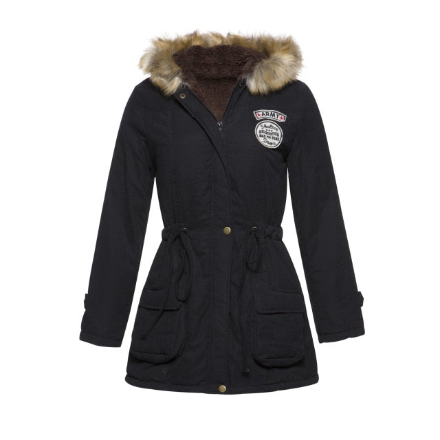 New Parkas Female Women Winter Coat Thickening Cotton Winter Jacket Womens