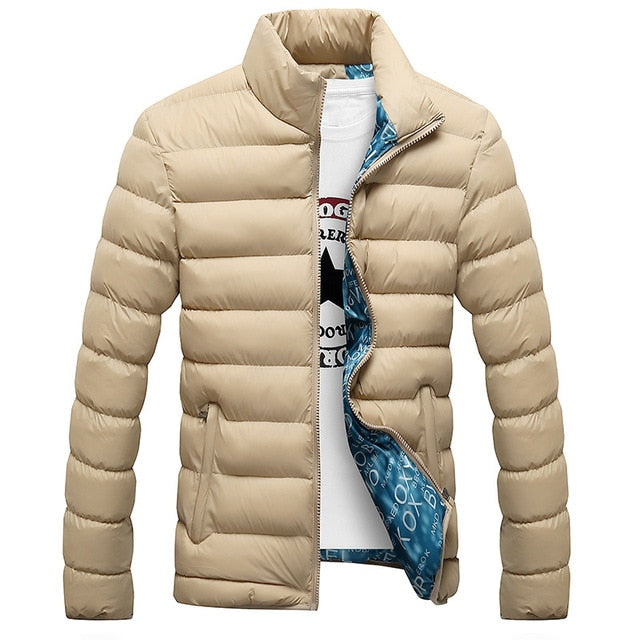 Winter Jacket Men Fashion Stand Collar Male Parka Jacket Mens Solid Thick Jackets and Coats