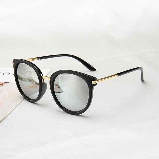 2019 New Sunglasses Women   Driving Mirrors vintage For Women Reflective flat lens