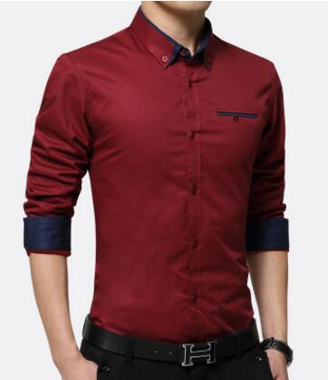 Men Shirts Business Long Sleeve Turn-down Collar Cotton Male Shirt Slim Fit Popular Designs