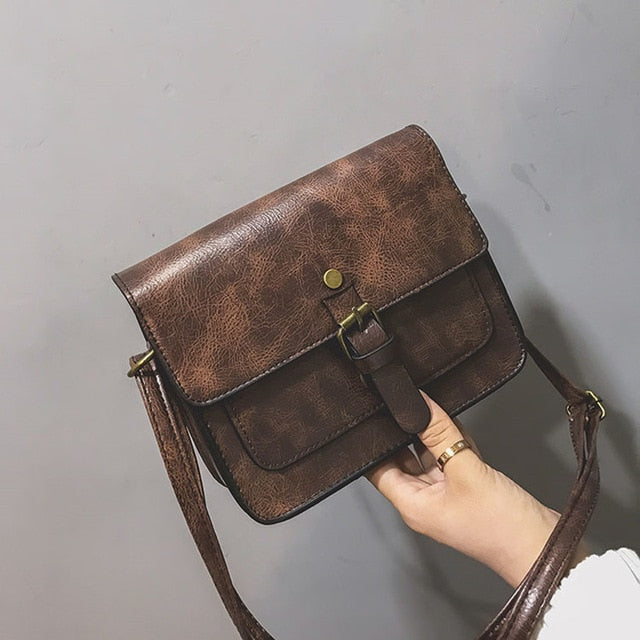 New Women Flap Fashion Casual Leather Shoulder Bags Lady Crossbody Messenger Bag Elegant