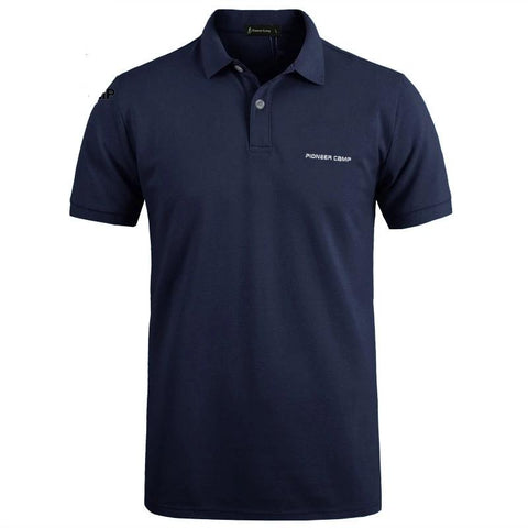 Pionner Camp Brand clothing Casual solid male polo shirt Short Sleeve breathable