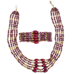 Samburu bead and brass Set