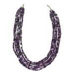 Amethyst 5 Line Collar Necklace