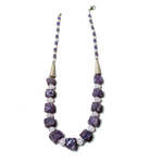Rough Amethyst and Rose Quartz Necklace