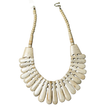Beige Camel Bone Collar Necklace