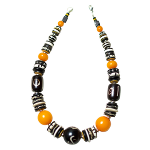 Camel Bone and Light Amber Necklace
