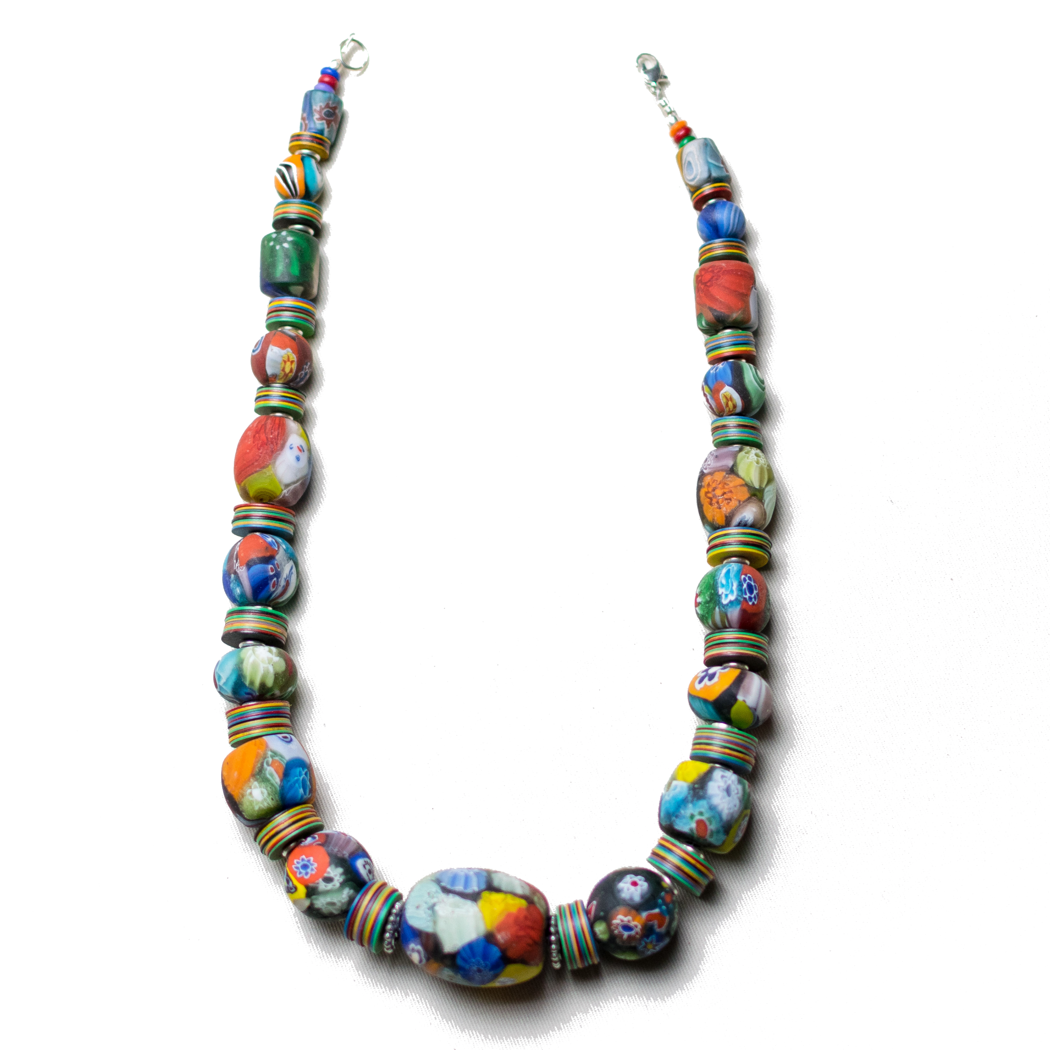 Colorful Massaga Bead Necklace