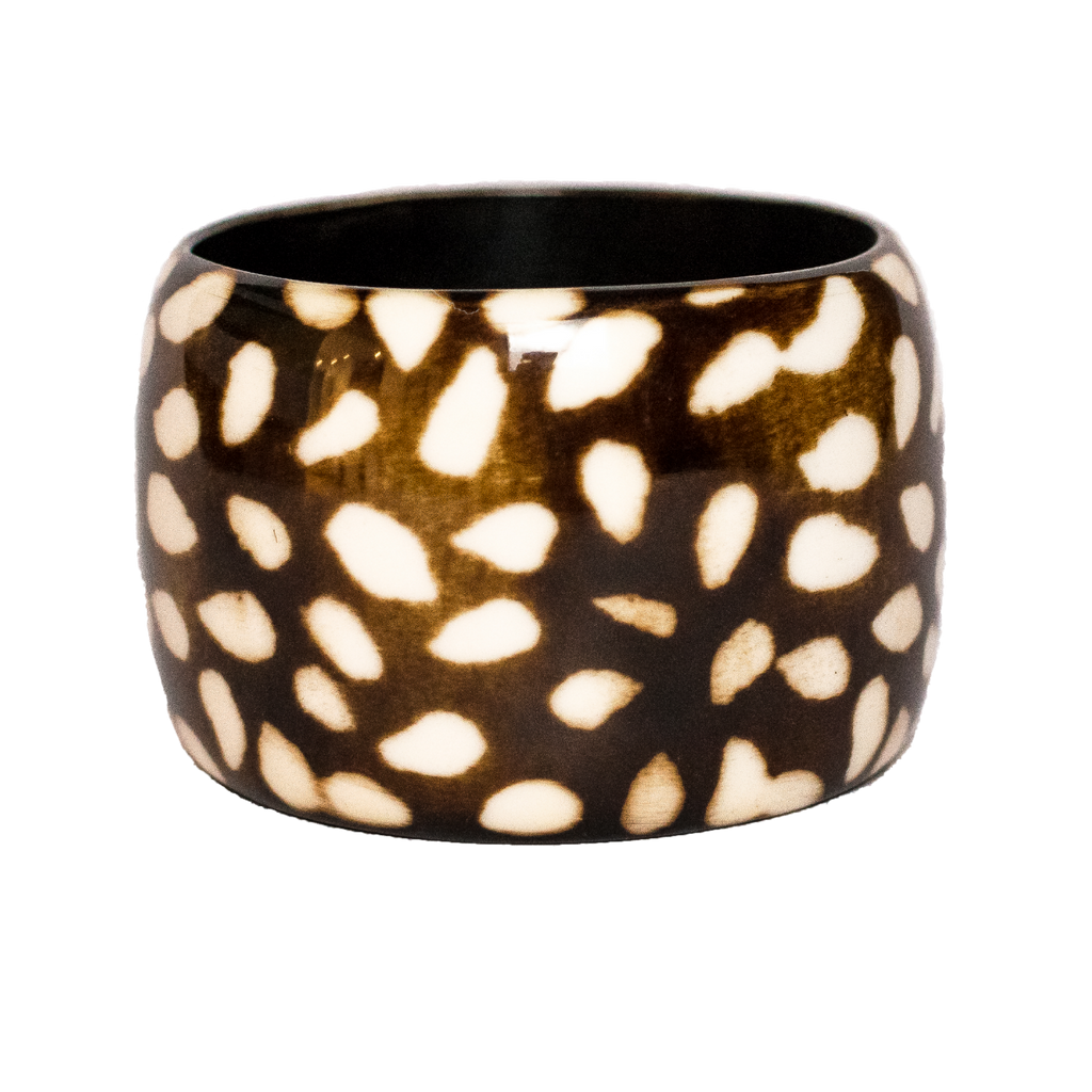 Polka Dot Camel Bone Bangle