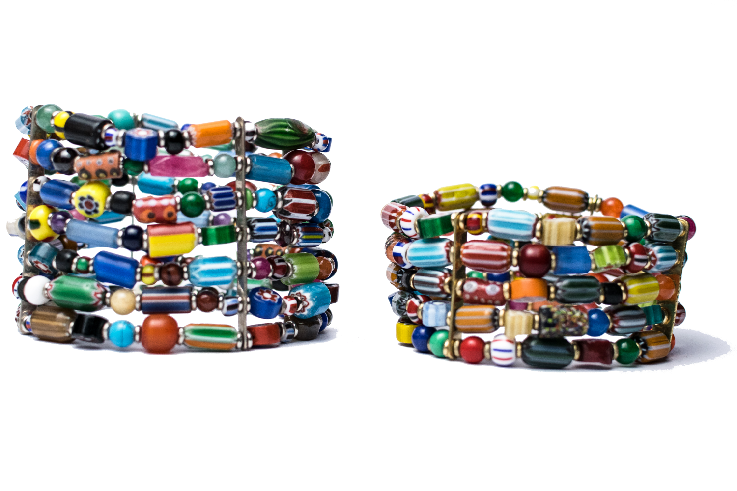 Mixed Beads Bracelet Pair