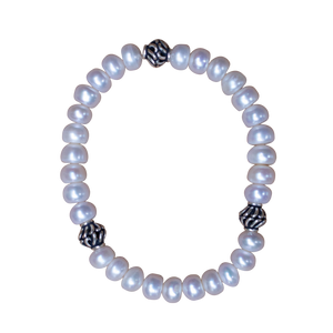 Pearl and Silver Sterling Bracelet
