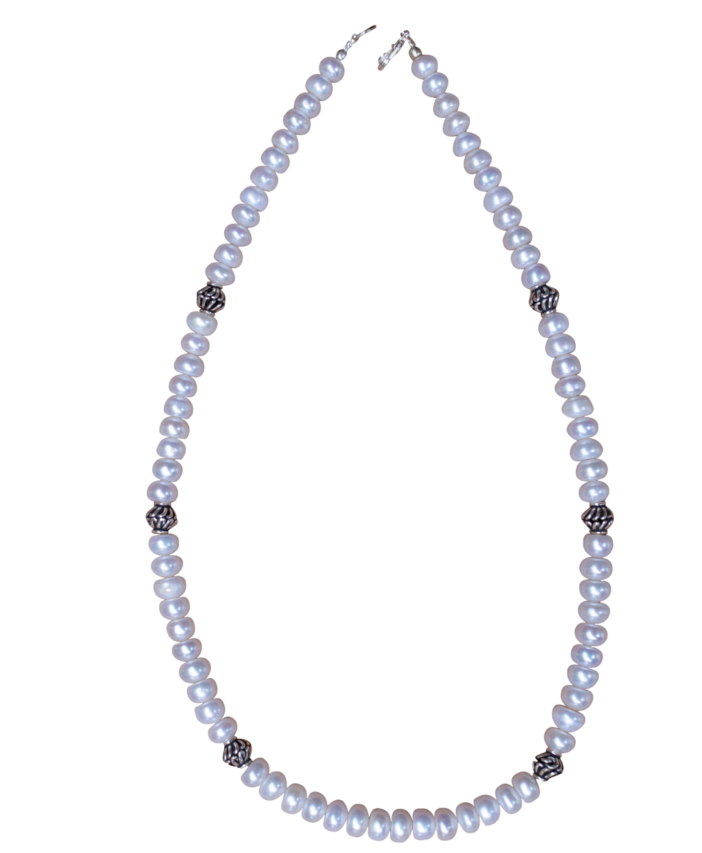 Pearl and Silver Sterling Necklace