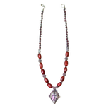 Samburu Bead silver Mask Necklace