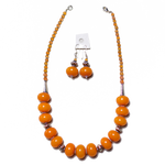 Autumn Amber Necklace & Earrings