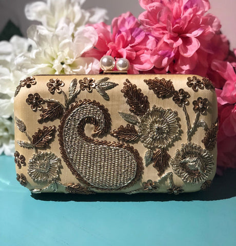 Antique Ivory Clutch