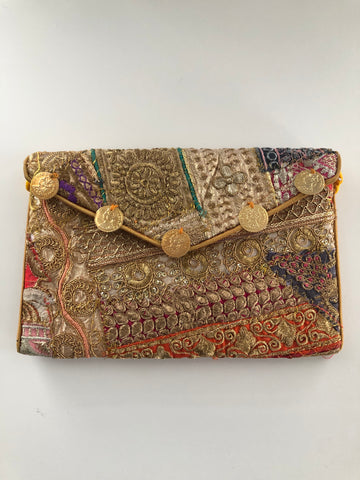 Jaipuri Clutch - Gold Coins (Yellow)