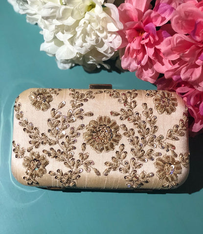 Ivory Clutch - Antique Work