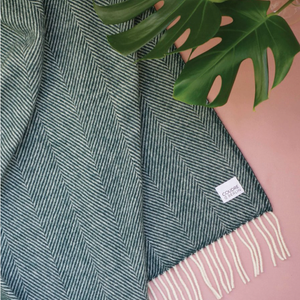 Wool Blanket petrol