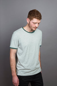 Contrast Collar T-Shirt granite/moss
