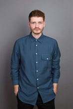 Laden Sie das Bild in den Galerie-Viewer, Kent Collar Shirt blue