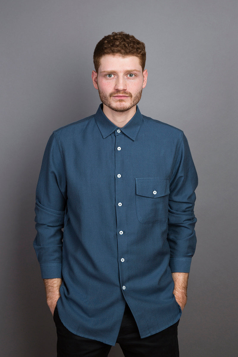 Kent Collar Shirt blue