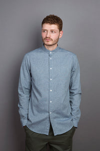 Band Collar Shirt cloud