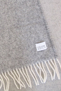 Woolen Throw Pick Stitch Granite