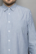 Load image into Gallery viewer, Kent Collar Shirt blue stripes