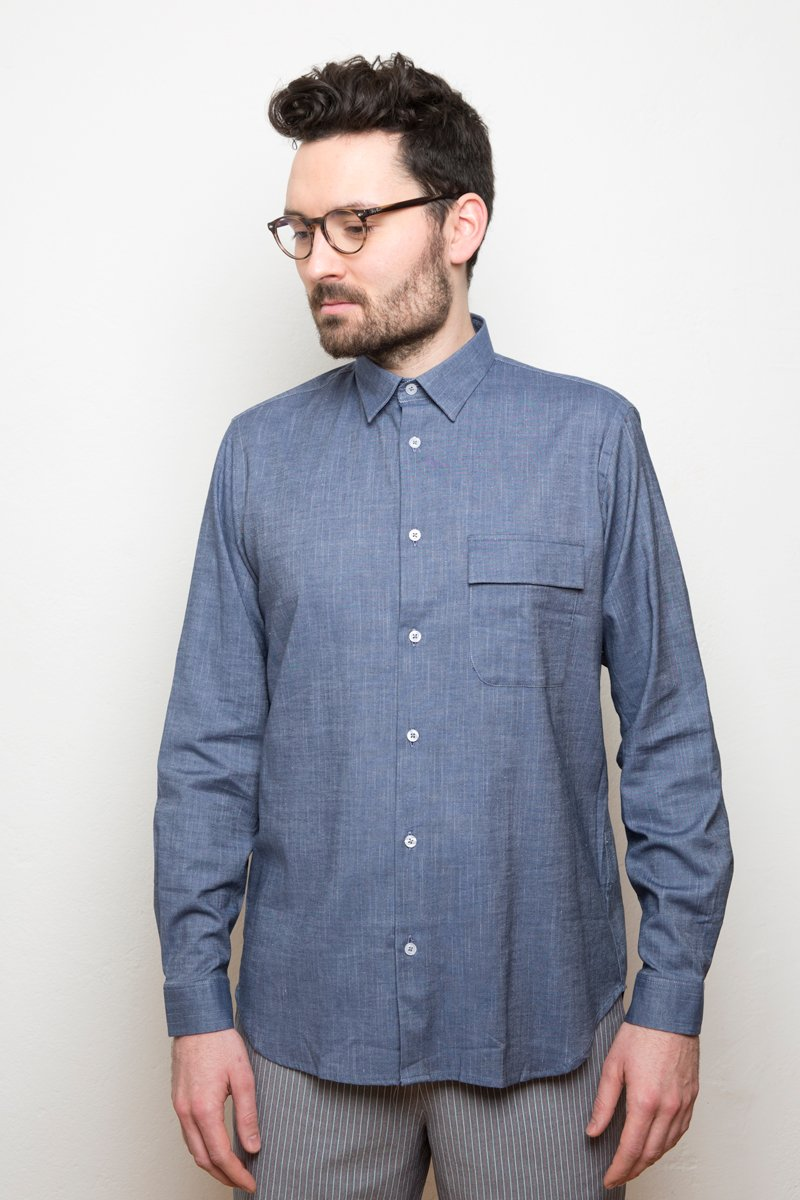 Kent Collar Shirt denim blue