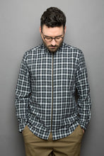 Load image into Gallery viewer, Zipper Shirt black checked