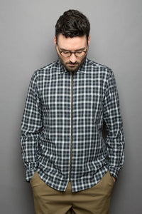 Zipper Shirt black checked