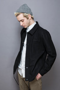 Wool Shirt Jacket black