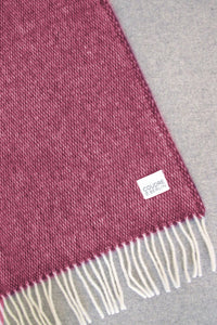 Woolen Throw Pick Stitch Redstone