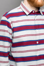 Load image into Gallery viewer, Kent Collar Shirt winter stripes red
