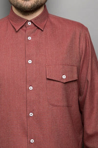 Kent Collar Shirt red melange