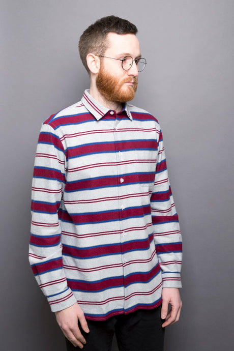 Kent Collar Shirt winter stripes red