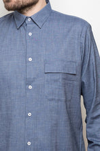 Laden Sie das Bild in den Galerie-Viewer, Kent Collar Shirt denim blue