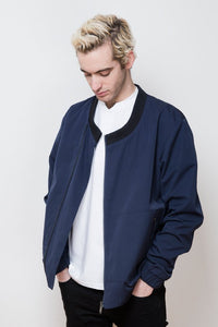 V-Neck Bomber Jacket